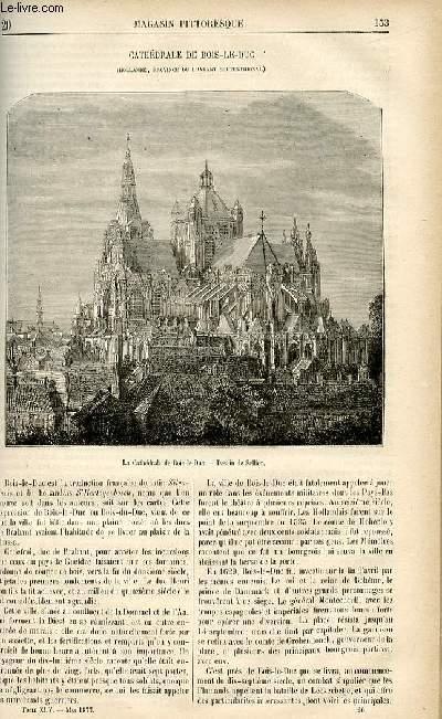 LE MAGASIN PITTORESQUE - Livraison n°20 - Cathédrâle de Bois Le Duc (Hollande, province du Brabant septentrionnal).