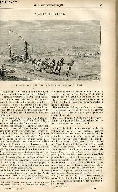 LE MAGASIN PITTORESQUE - Livraison n°24 - La navigation sur le Nil.