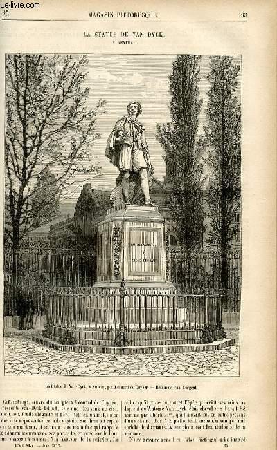 LE MAGASIN PITTORESQUE - Livraison n°25 - La statue de Van Dyck, à Anvers.