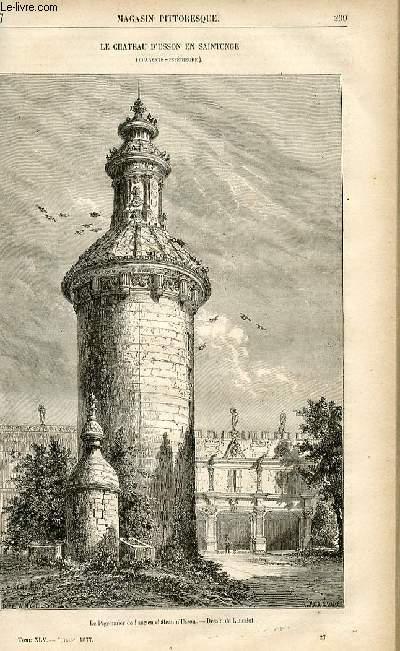 LE MAGASIN PITTORESQUE - Livraison n°27 - Le château d'Usson en Saintonge (Charente Inférieure).