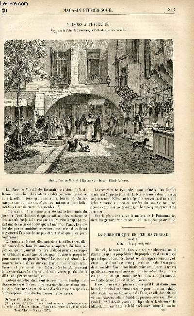 LE MAGASIN PITTORESQUE - Livraison n°30 - Maisons à Beaucaire .