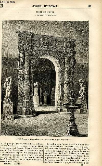 LE MAGASIN PITTORESQUE - Livraison n°32 - Musée du Louvre - La porte de Crémone.
