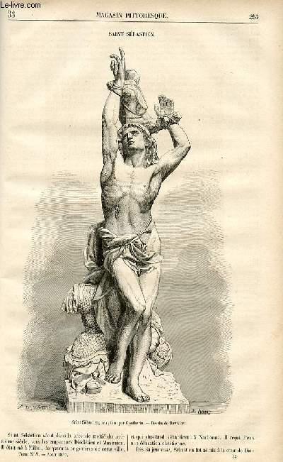 LE MAGASIN PITTORESQUE - Livraison n°33 - Saint Sébastien.