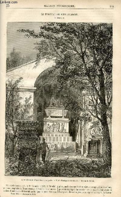 LE MAGASIN PITTORESQUE - Livraison n°35 - Le tombeau de Winckelmann à trieste.