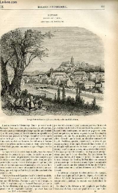 LE MAGASIN PITTORESQUE - Livraison n°38 - Lannion, Cotes du Nord - Geoffroy de Pontblanc.