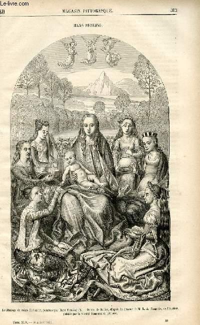 LE MAGASIN PITTORESQUE - Livraison n°40 - Hans memling.