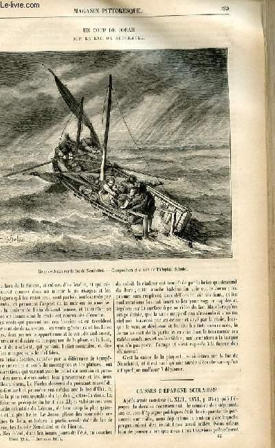 LE MAGASIN PITTORESQUE - Livraison n°42 - Un coup de Joran sur le lac de Neuchâtel.