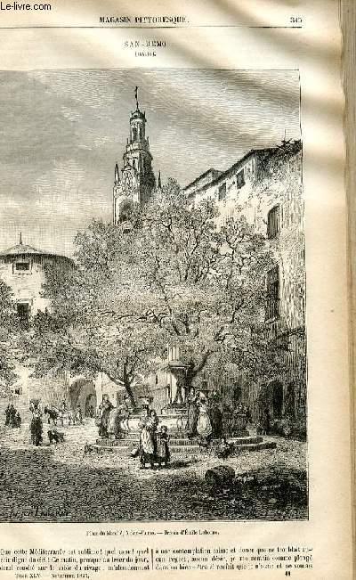 LE MAGASIN PITTORESQUE - Livraison n°44 - San remo (-Italie).