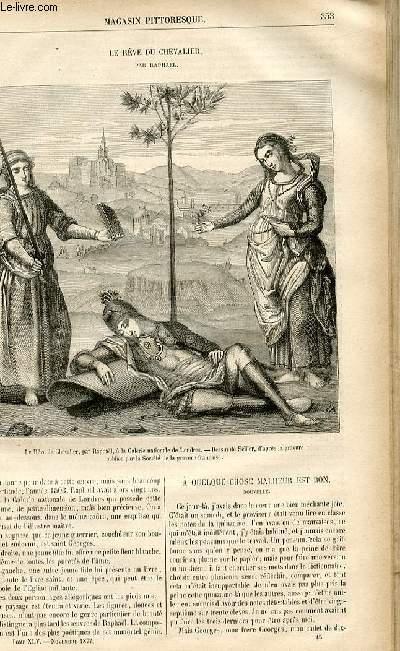 LE MAGASIN PITTORESQUE - Livraison n°45 - Le rêve du chevalier par Raphaël.