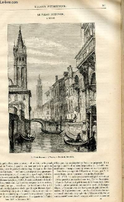 LE MAGASIN PITTORESQUE - Livraison n°46 - Le palais Rezzonico à Venise.