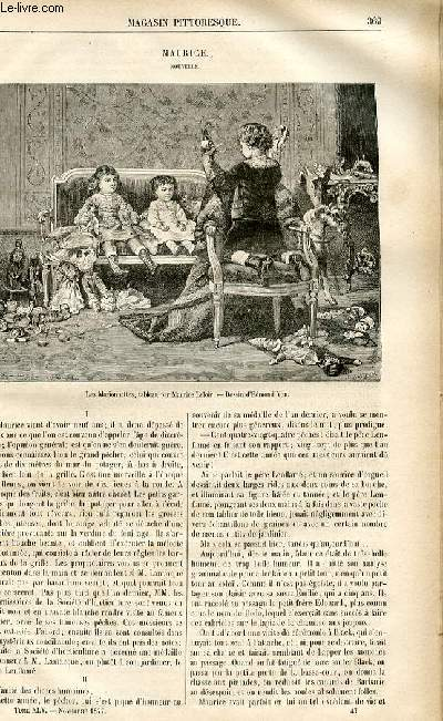 LE MAGASIN PITTORESQUE - Livraison n°47 - Maurice, nouvelle.