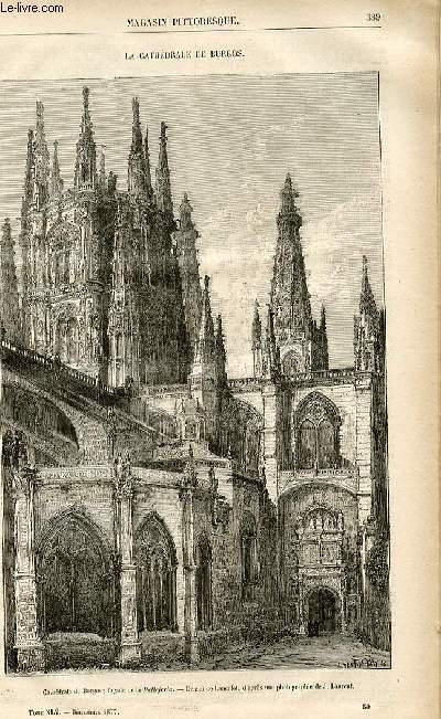 LE MAGASIN PITTORESQUE - Livraison n°50 - La cathédrâle de Burgos.