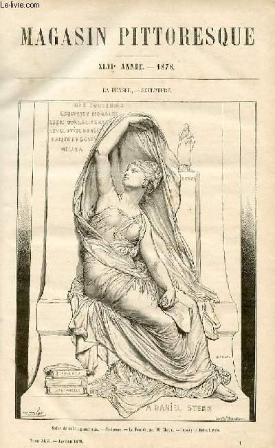 LE MAGASIN PITTORESQUE - Livraison n°01 - La pensée, sculpture.