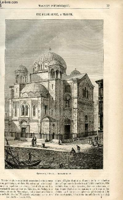 LE MAGASIN PITTORESQUE - Livraison n°03 - Une église serbe, à Trieste.