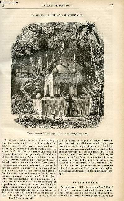 LE MAGASIN PITTORESQUE - Livraison n°04 - Un tombeau musulman à Chandernagor.