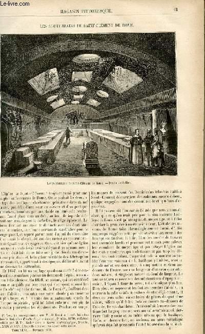 LE MAGASIN PITTORESQUE - Livraison n°06 - Les souterrains de Saint Clément de Rome.