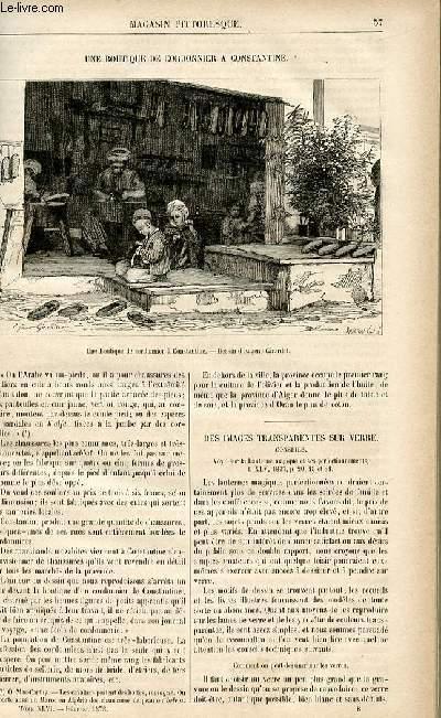 LE MAGASIN PITTORESQUE - Livraison n°08 - Une boutique de cordonnier à Constantine.