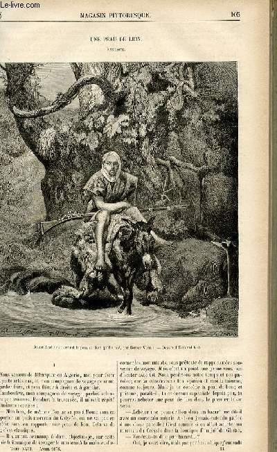 LE MAGASIN PITTORESQUE - Livraison n°14 - Une peau de lion, anecdote.