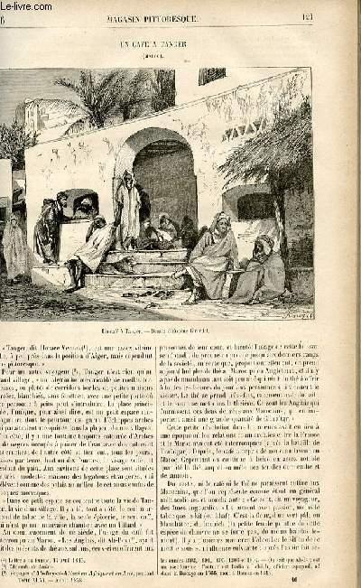 LE MAGASIN PITTORESQUE - Livraison n°16 - Un café à Tanger (Maroc).