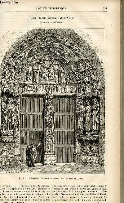 LE MAGASIN PITTORESQUE - Livraison n°18 - Eglise de Villeneuve - L'archevêque (Yonne).