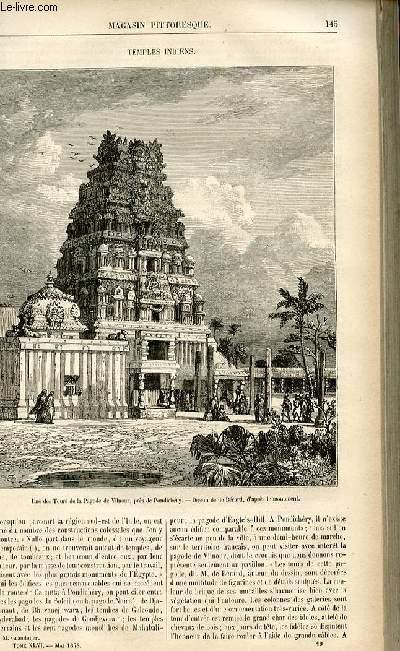 LE MAGASIN PITTORESQUE - Livraison n°19 - Temples indiens.