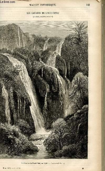 LE MAGASIN PITTORESQUE - Livraison n°22 - Les cascades de l'Oued Tifrit (Algérie, province d'Oran).