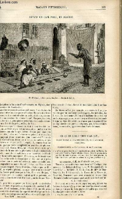 LE MAGASIN PITTORESQUE - Livraison n°24 - Devant un café more, en Algérie.