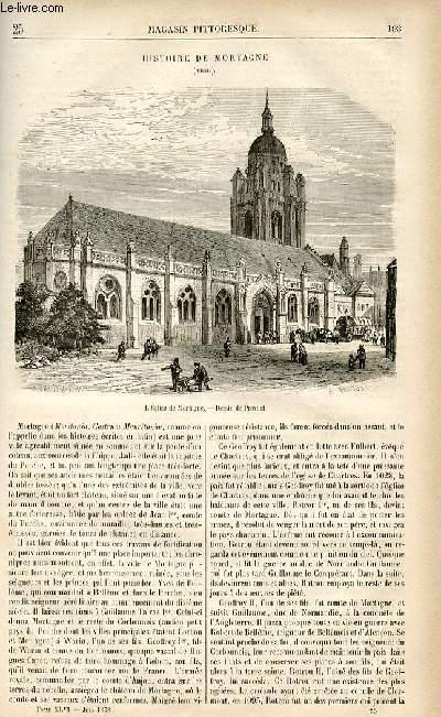 LE MAGASIN PITTORESQUE - Livraison n°25 - Histoire de Mortagne (Orne).