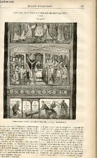 LE MAGASIN PITTORESQUE - Livraison n°26 - Peintures de l'église souterraine de Saint Clément à Rome.