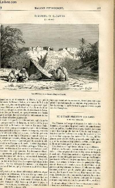 LE MAGASIN PITTORESQUE - Livraison n°29 - El Kantara ou El Gantra (Algérie).