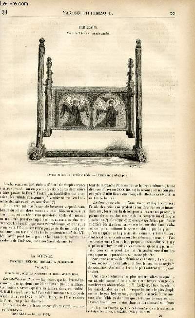 LE MAGASIN PITTORESQUE - Livraison n°30 - Berceaux.