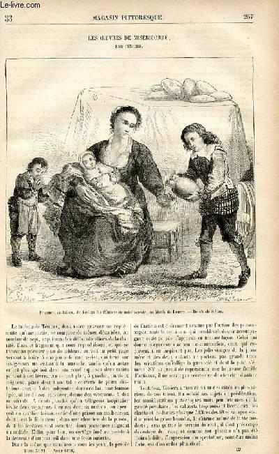 LE MAGASIN PITTORESQUE - Livraison n°33 - Les oeuvres de miséricorde par Téniers.