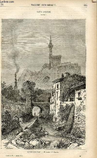 LE MAGASIN PITTORESQUE - Livraison n°34 - Saint Ambroix (Gard).
