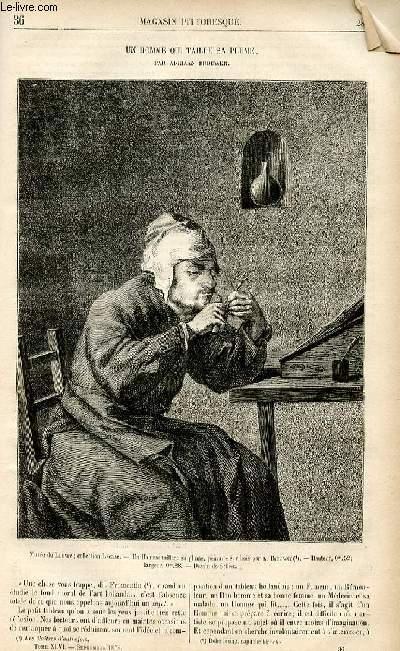 LE MAGASIN PITTORESQUE - Livraison n°36 - Un homme qui taille sa plume par Adriaan Brouwer.