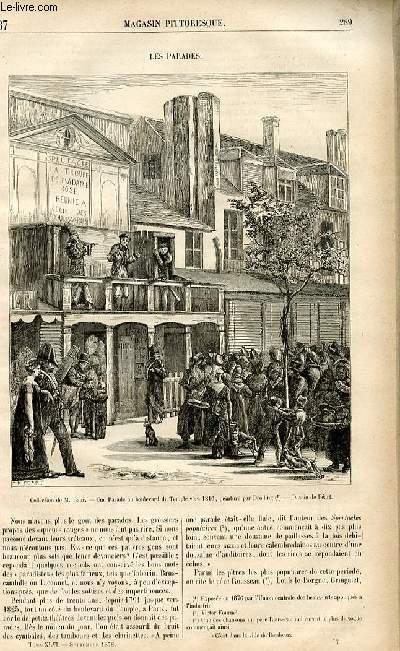 LE MAGASIN PITTORESQUE - Livraison n°37-  Les parades.