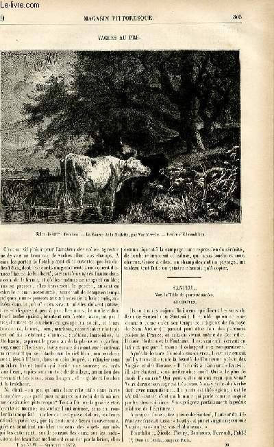 LE MAGASIN PITTORESQUE - Livraison n°39 - Vaches au pré.