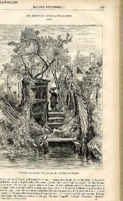 LE MAGASIN PITTORESQUE - Livraison n°42 - Les bords de l'Avre à Nonancourt (Eure) .