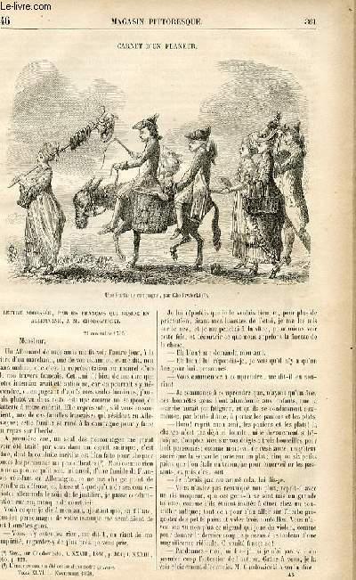 LE MAGASIN PITTORESQUE - Livraison n°46 - Carnet d'un flaneur.