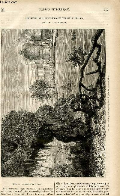 LE MAGASIN PITTORESQUE - Livraison n°51 - Souvenirs de l'exposition universelle de 1878, suite et fin.