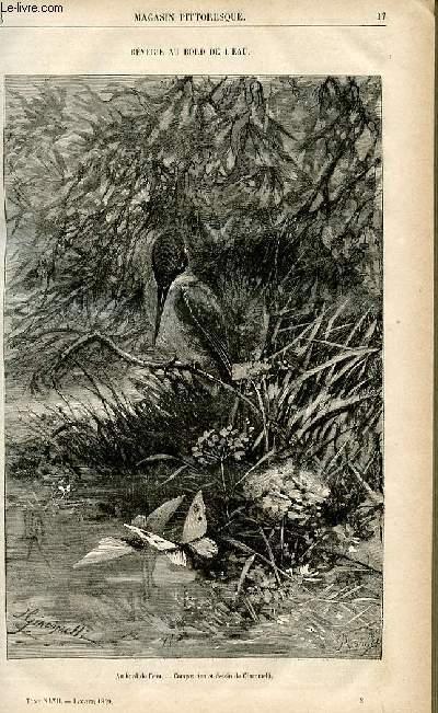 LE MAGASIN PITTORESQUE - Livraison n°03 - Rêverie au bord de l'eau.