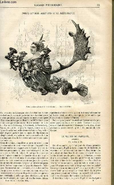 LE MAGASIN PITTORESQUE - Livraison n°04 - Porte-lumière allemand de la Renaissance.