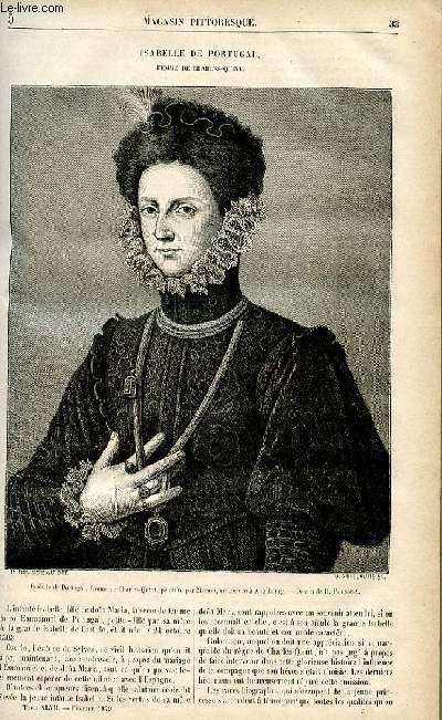 LE MAGASIN PITTORESQUE - Livraison n°05 - Isabelle de Portugal, femme de Charles Quint.