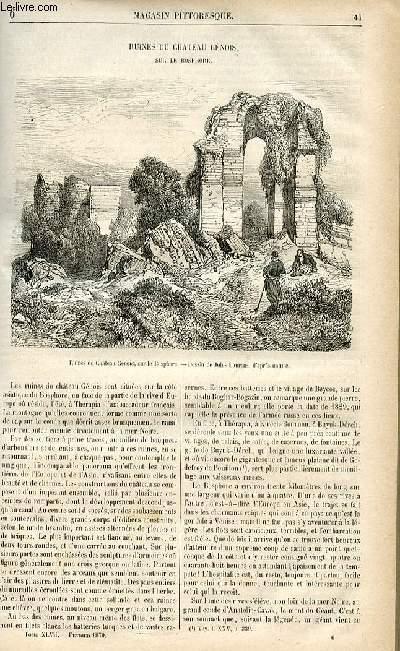 LE MAGASIN PITTORESQUE - Livraison n°06 - Ruines du château génois sur le Bosphore.