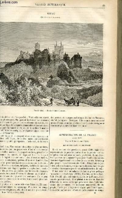 LE MAGASIN PITTORESQUE - Livraison n°12 - Vitré (Ile et Vilaine).