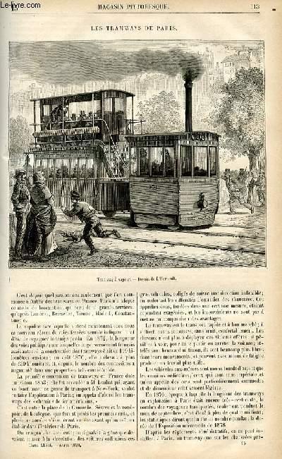 LE MAGASIN PITTORESQUE - Livraison n°15 - Les tramways de Paris.