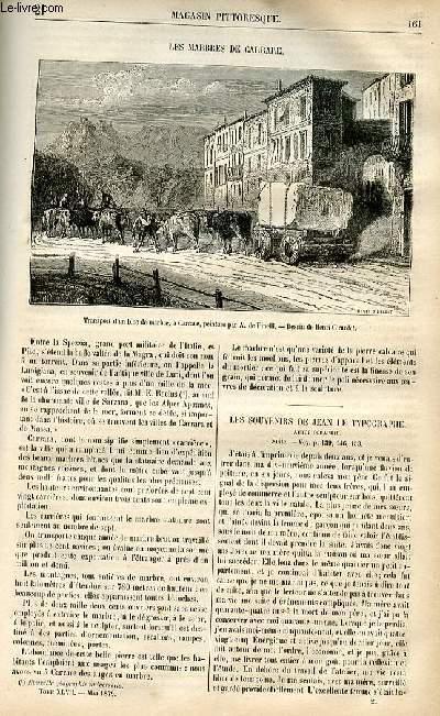LE MAGASIN PITTORESQUE - Livraison n°21 - Les marbres de carrare.