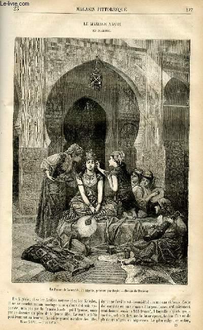 LE MAGASIN PITTORESQUE - Livraison n°23 - Le mariage arabe en Algérie.