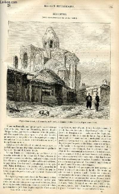LE MAGASIN PITTORESQUE - Livraison n°24 - Messemvria (côtes septentrionnales de la Mer noire).