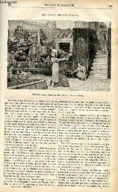 LE MAGASIN PITTORESQUE - Livraison n°26 - Des jardins chez les Romains.