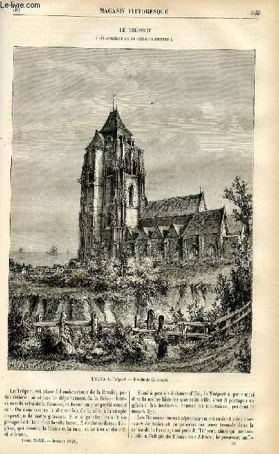 LE MAGASIN PITTORESQUE - Livraison n°30 - Le tréport (Seine inférieure).